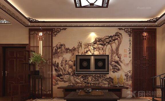 再搭配以中式实木家具