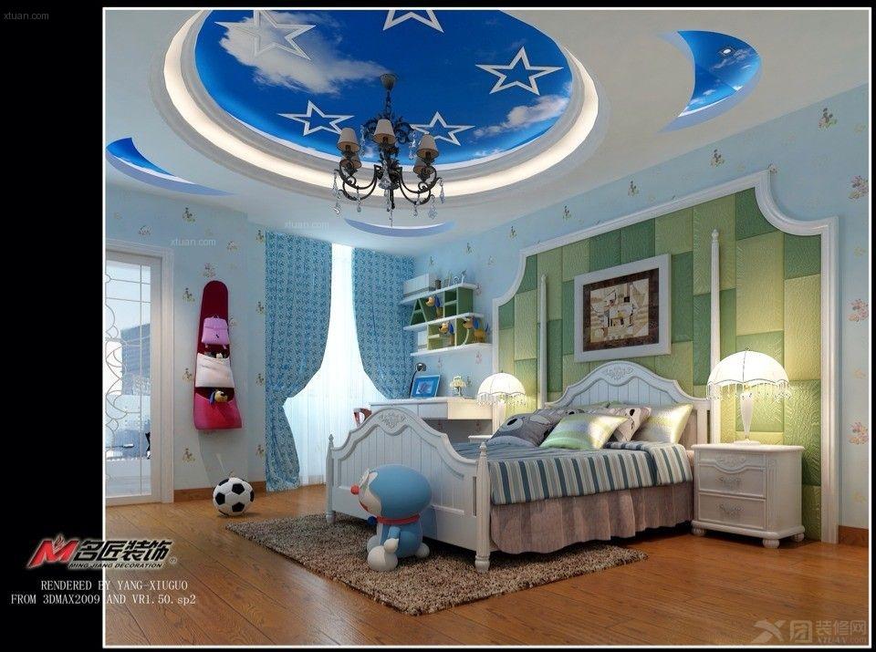 户型:别墅 房间:卧室 风格:欧式风格 装修类型:家装 装修方式:半包