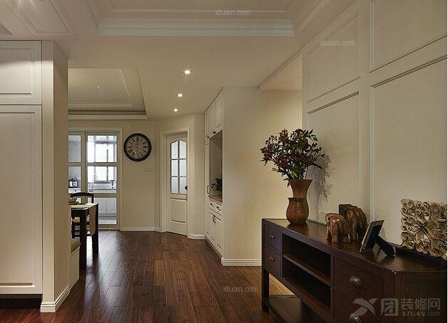 两居室美式风格过道_国风美仑装修效果图-x团装修网