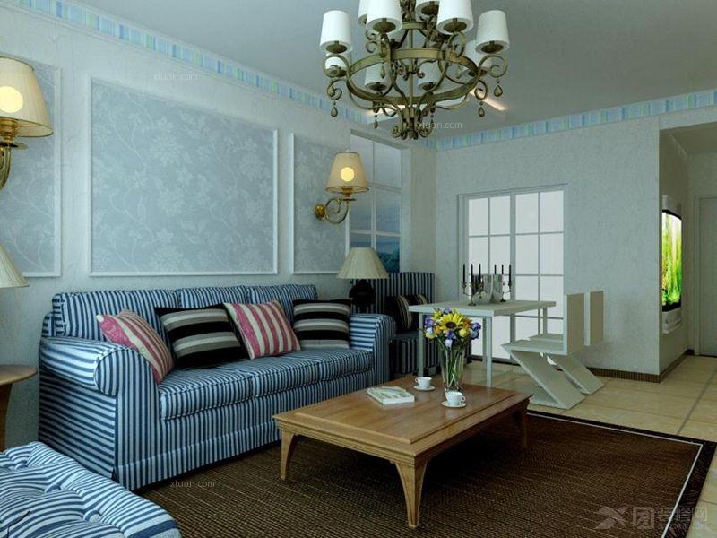 客厅设计装修效果图  户型:两居室 房间:客厅 风格:地中海风格 装修
