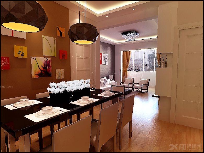 两室两厅现代简约餐厅_丰奥家园