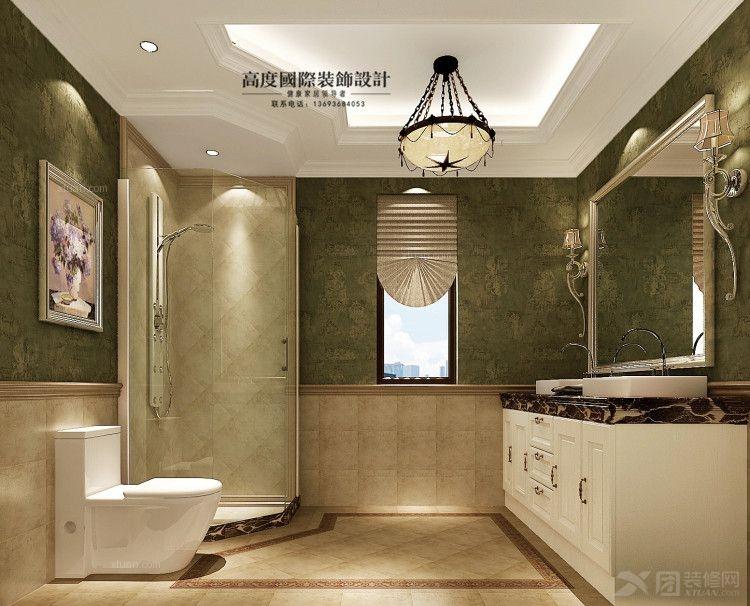 白领公寓美式风格卫生间 果岭classs装修效果