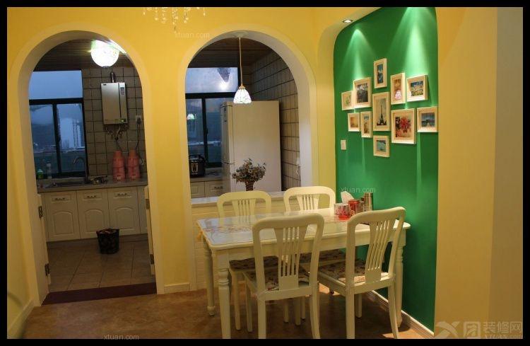 两居室田园风格餐厅照片墙_乡村田园