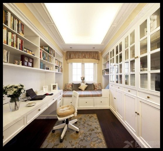 三居室简欧风格书房软装_简欧 中式装修效果图-x团图片