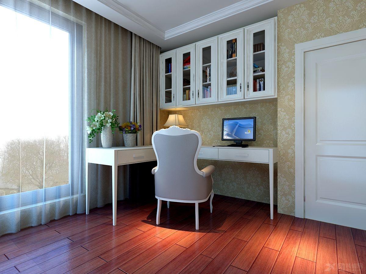 三居室法式风格书房_恒利山水装修效果图-x团装修网图片