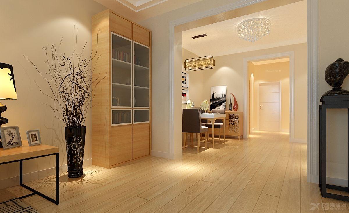 三室一厅现代风格过道_华银·天鹅湖装修效果图-x团