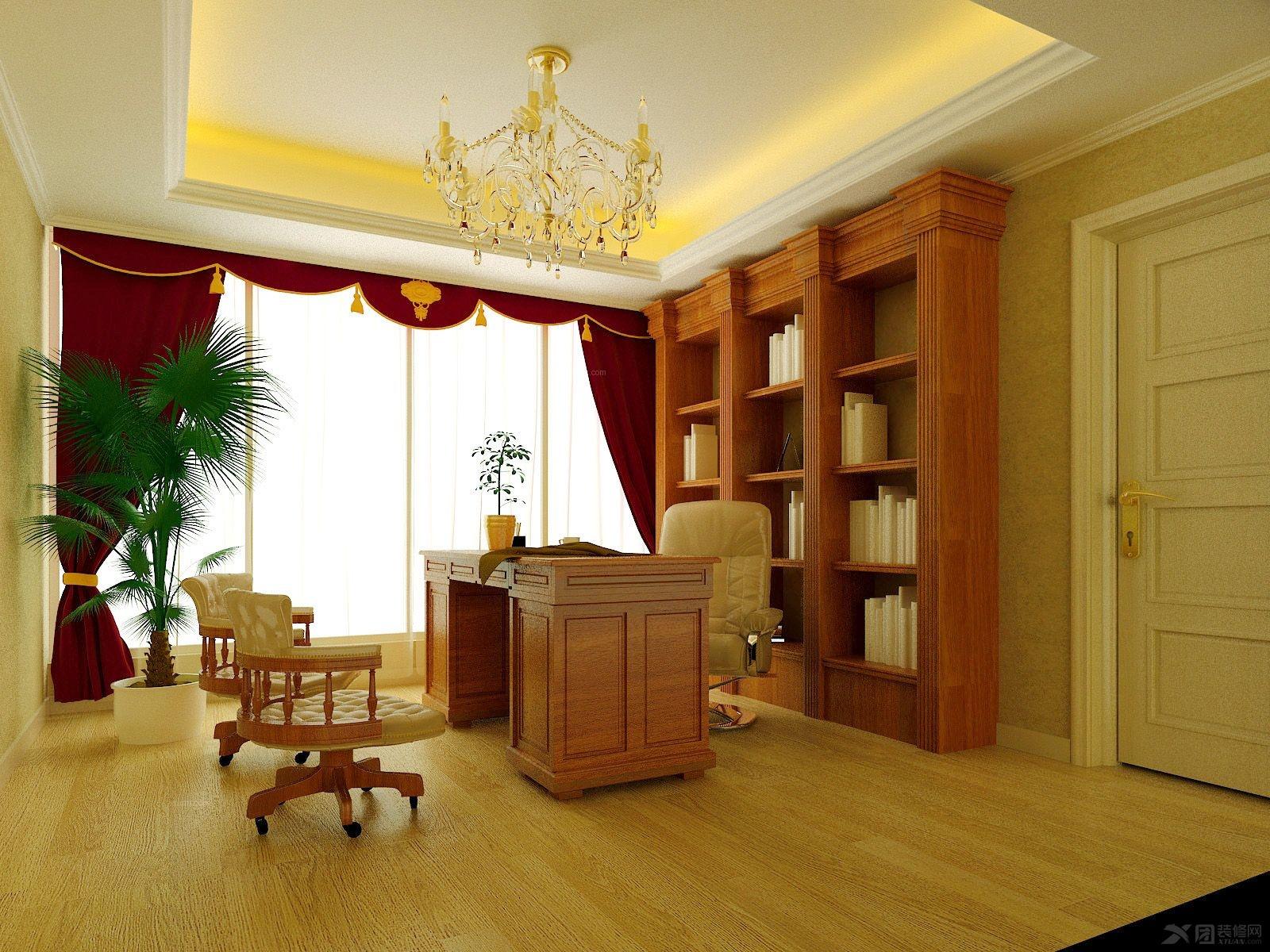 上书房经典黑白灰装修效果图 打造实用中式书房风格装修效果图 清新舒图片