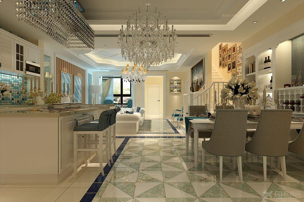 锦江华庭排屋连地下室共3层装修效果图 地下室客厅装修效果图  设计
