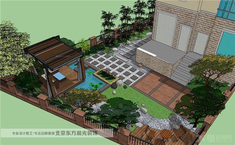 别墅古典风格花园_中国院子设计装修效果图-x团装修网