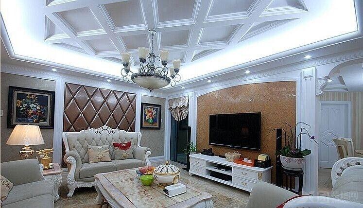 三居室欧式风格客厅_大华·锦绣海岸装修效果图-x团
