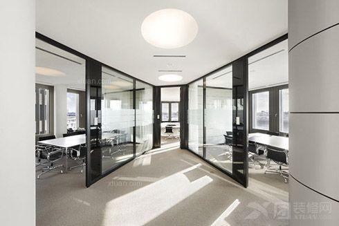 现代简约办公设计_电气公司办公室装修效果图-x团装修