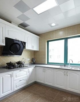 梅岭新村308装修效果图-三居室简欧风格厨房开放图片