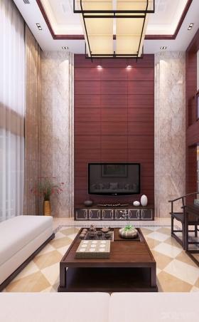 复式楼欧式风格客厅电视背景墙_山景叠院5号楼