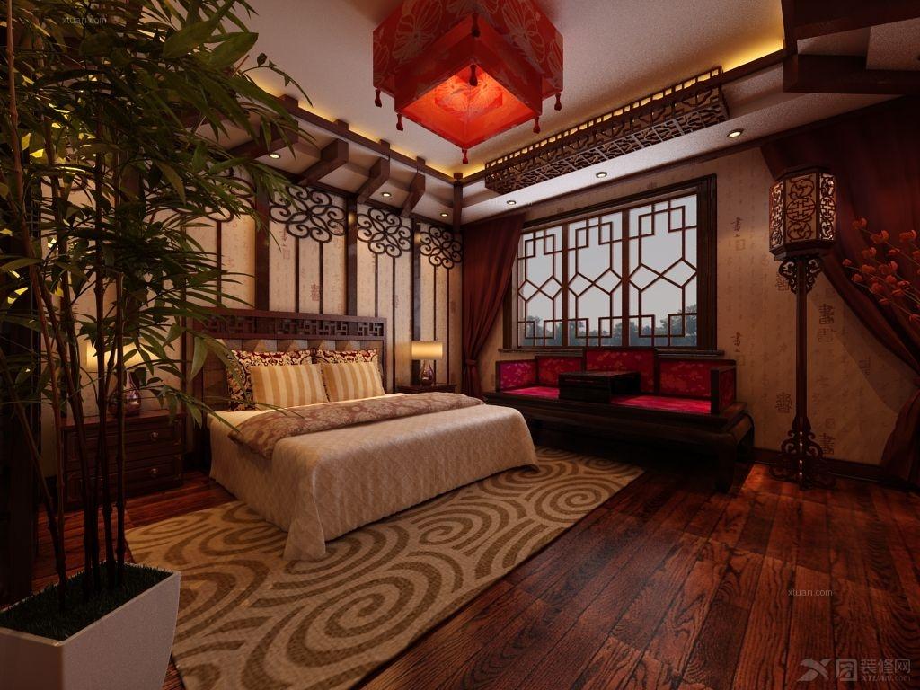 套房卧室装修效果图 融湖中心城卧室家具装修效果图  户型:别墅 房间