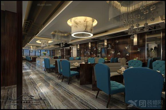 大户型中式风格餐厅_火锅店 新中式风格图片