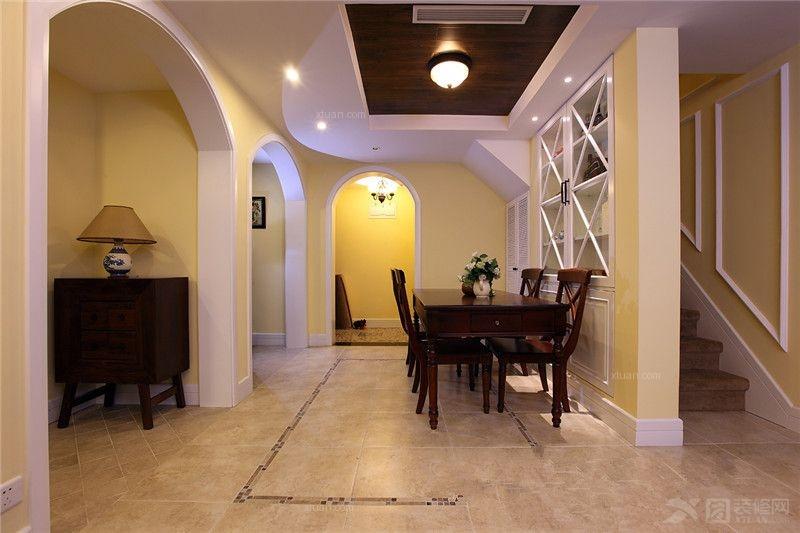 别墅美式风格过道_美式风格图片