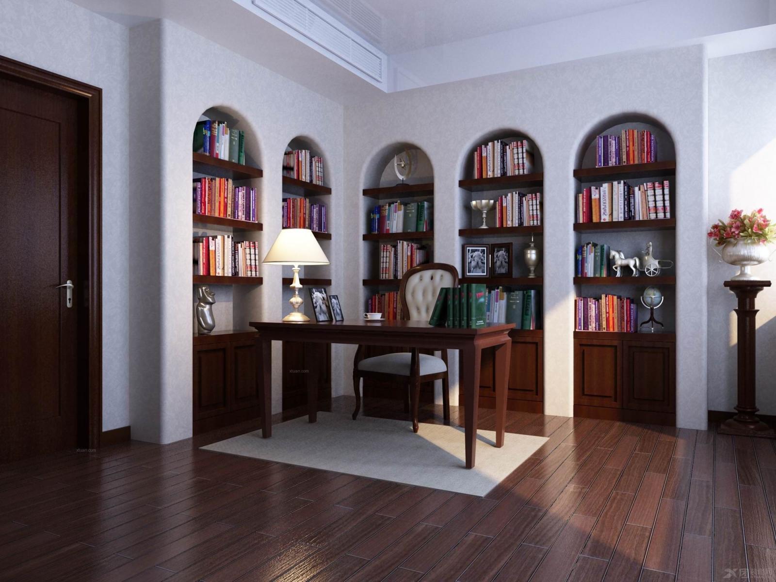 两室两厅欧式风格书房_蓝雅星河湾图片