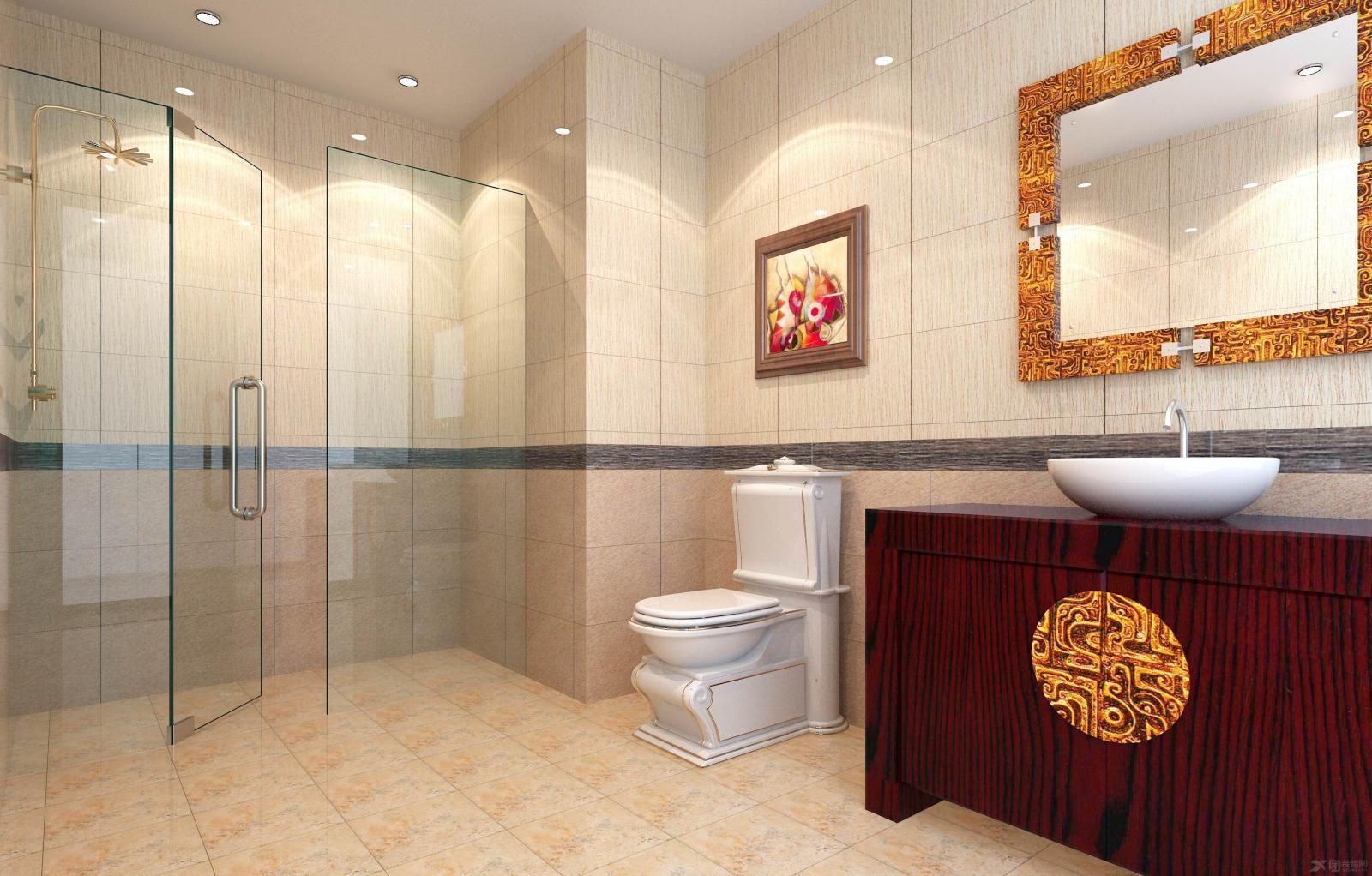 两室两厅中式风格卫生间_天庆国际新城图片