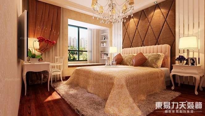 三居室欧式风格卧室_卢浮宫馆三居简欧风格装修效果