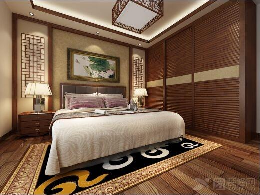 三室两厅中式风格卧室_金博园装修效果图-x团装修网图片