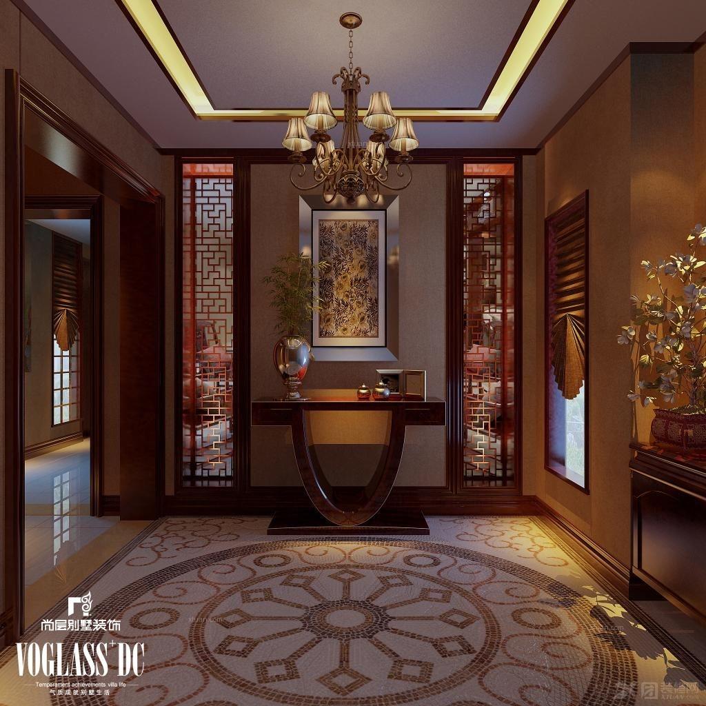 玄关装修效果图 彩色艺术玻璃蒂凡尼复古鹦鹉阳台图片