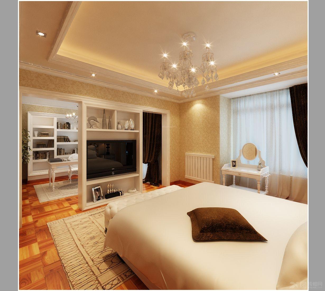 四居室欧式风格卧室软装_国际花都现代欧式风格图片