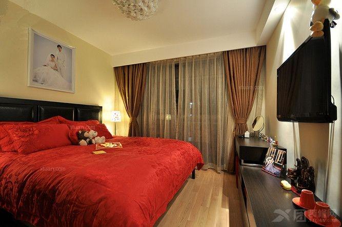 中式卧室装修效果图 套房卧室装修效果图 融湖中心城卧室家具装修效果