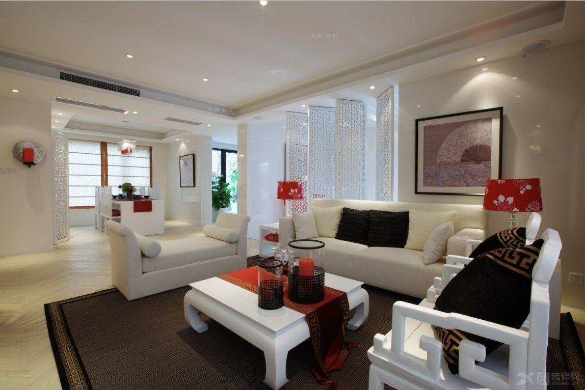 大户型现代风格客厅软装_祥和尊邸