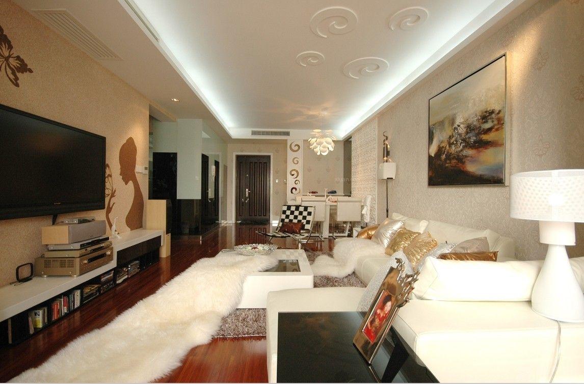 大户型简欧风格客厅软装_西郊庄园装修效果图-x团装修图片