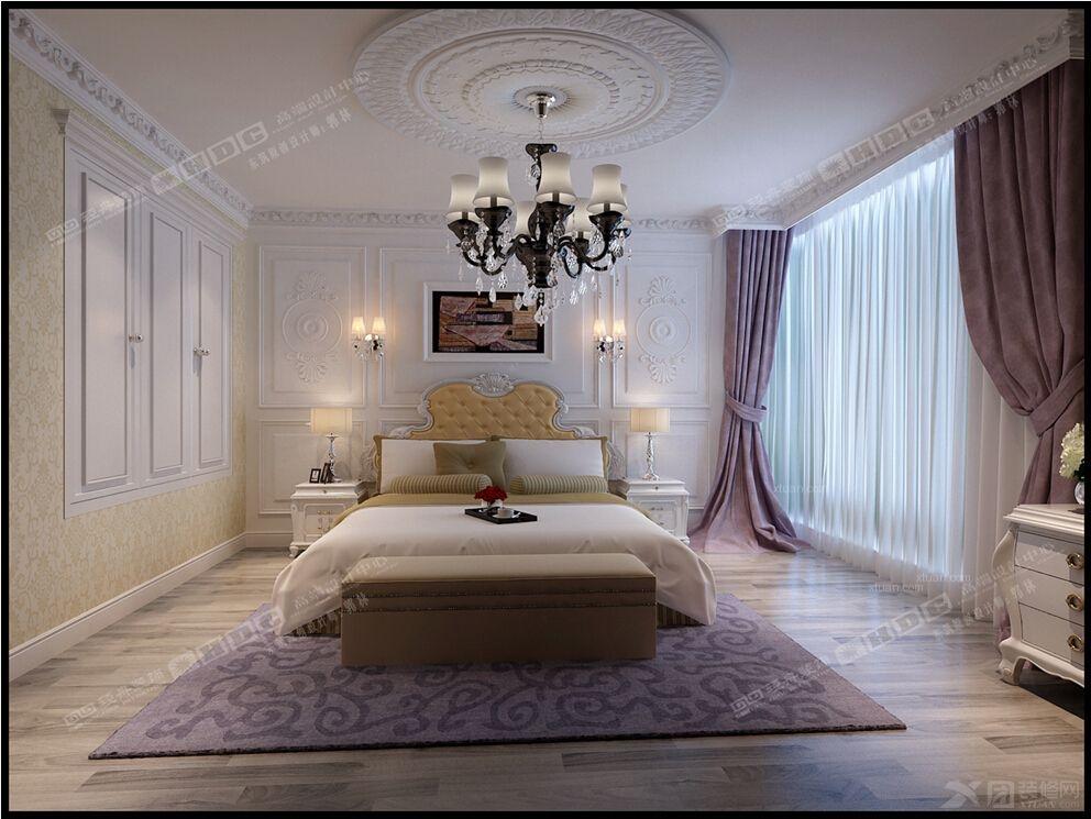 老房简欧风格卧室_棕榈泉装修效果图-x团装修网