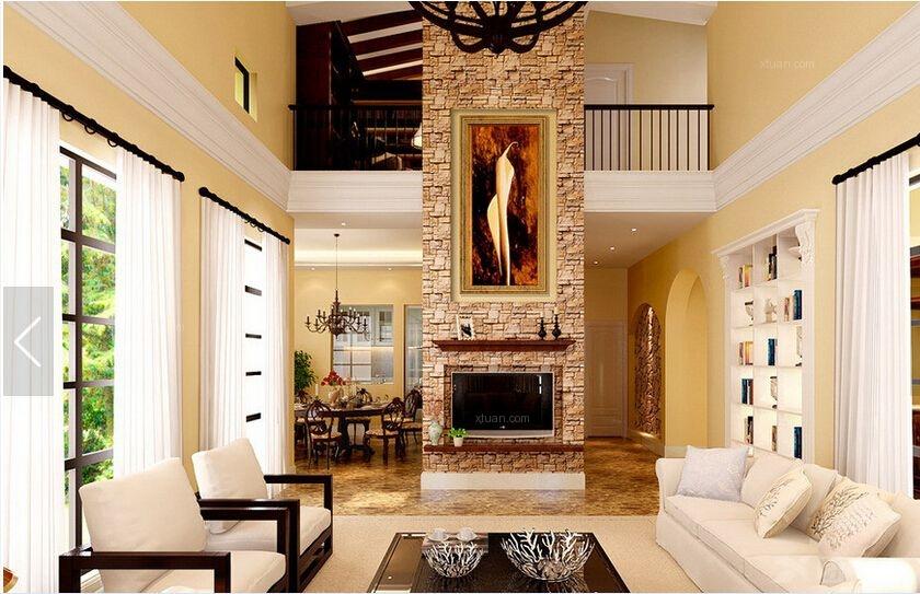 客厅装修效果图  户型:别墅 房间:客厅 风格:美式风格 装修类型:家装