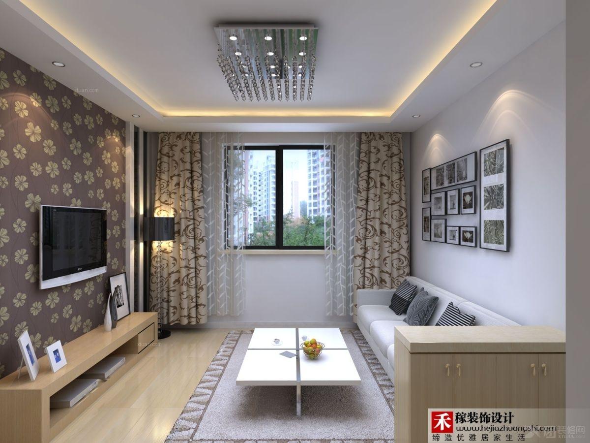两居室时尚风格客厅电视背景墙