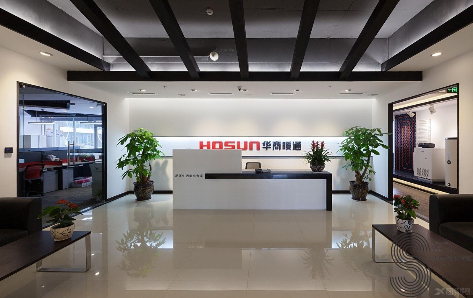 成都私享高端办公室设计—华商暖通环球中心总部办公室装修效果图