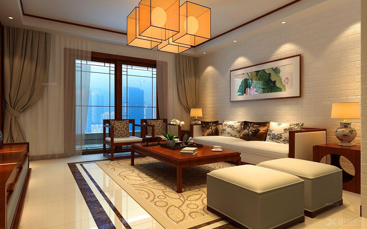 中建瀛园158平中式风格装修设计效果图