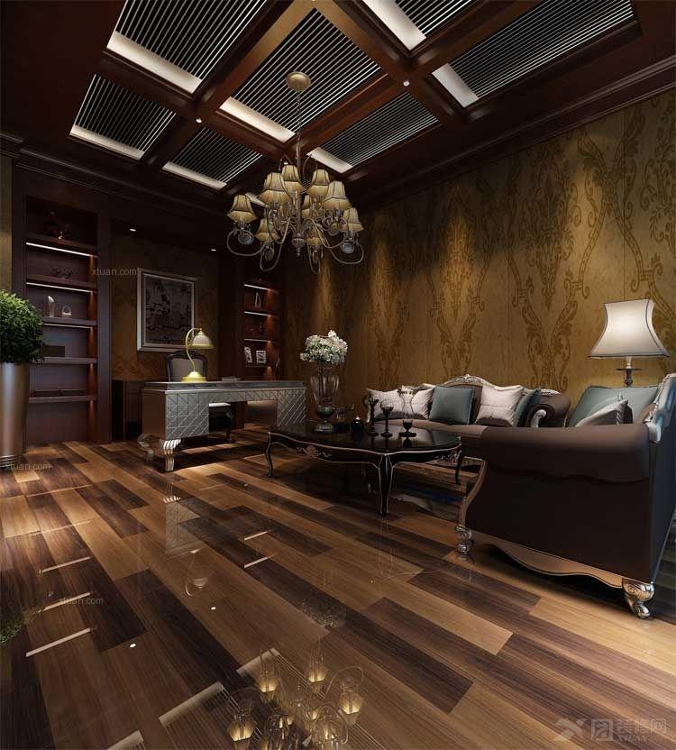 花梨木木纹地砖装修效果图 高清图片