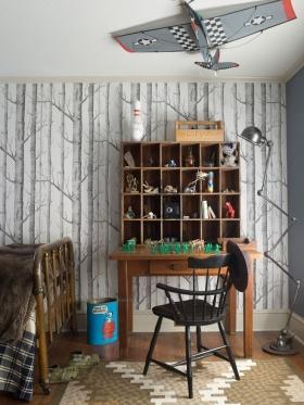 儿童房手绘墙画效果图