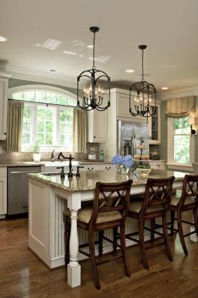 厨房岛台装修效果图-大户型欧式风格厨房