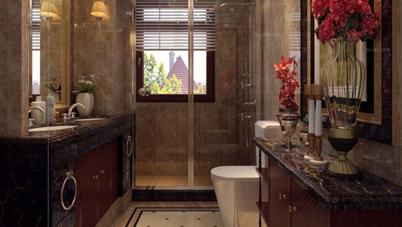 别墅简欧风格卫生间图片
