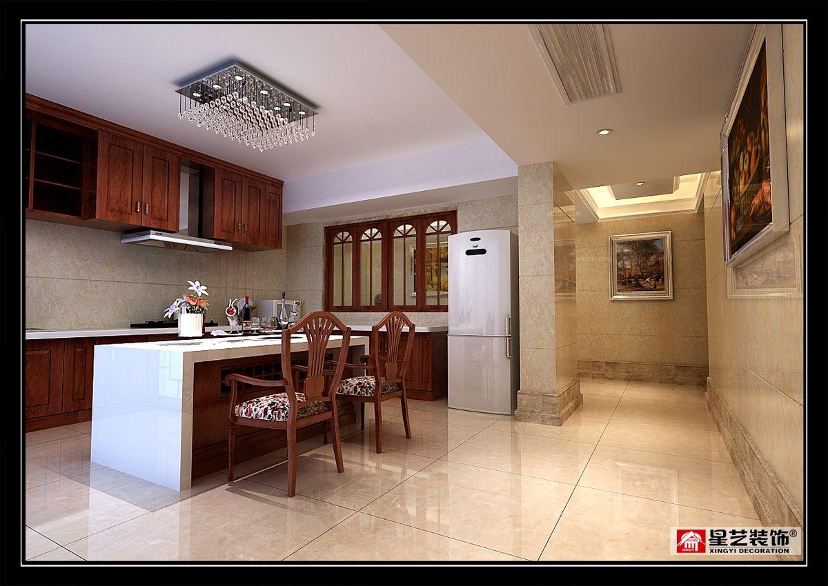 别墅欧式风格厨房开放式厨房