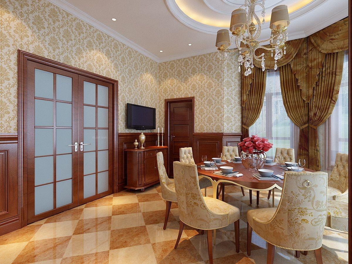 绿地棋盘山庄260平别墅美式风格设计风尚