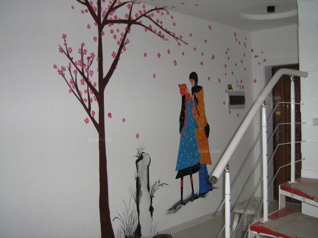 中正花园二期手绘墙画装修效果图