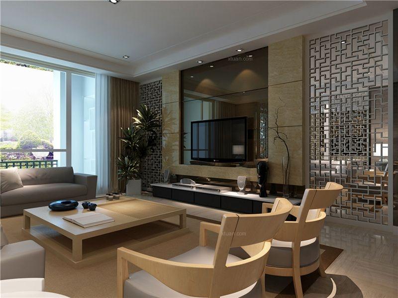 橡树湾-185平四居室-现代中式设计案例