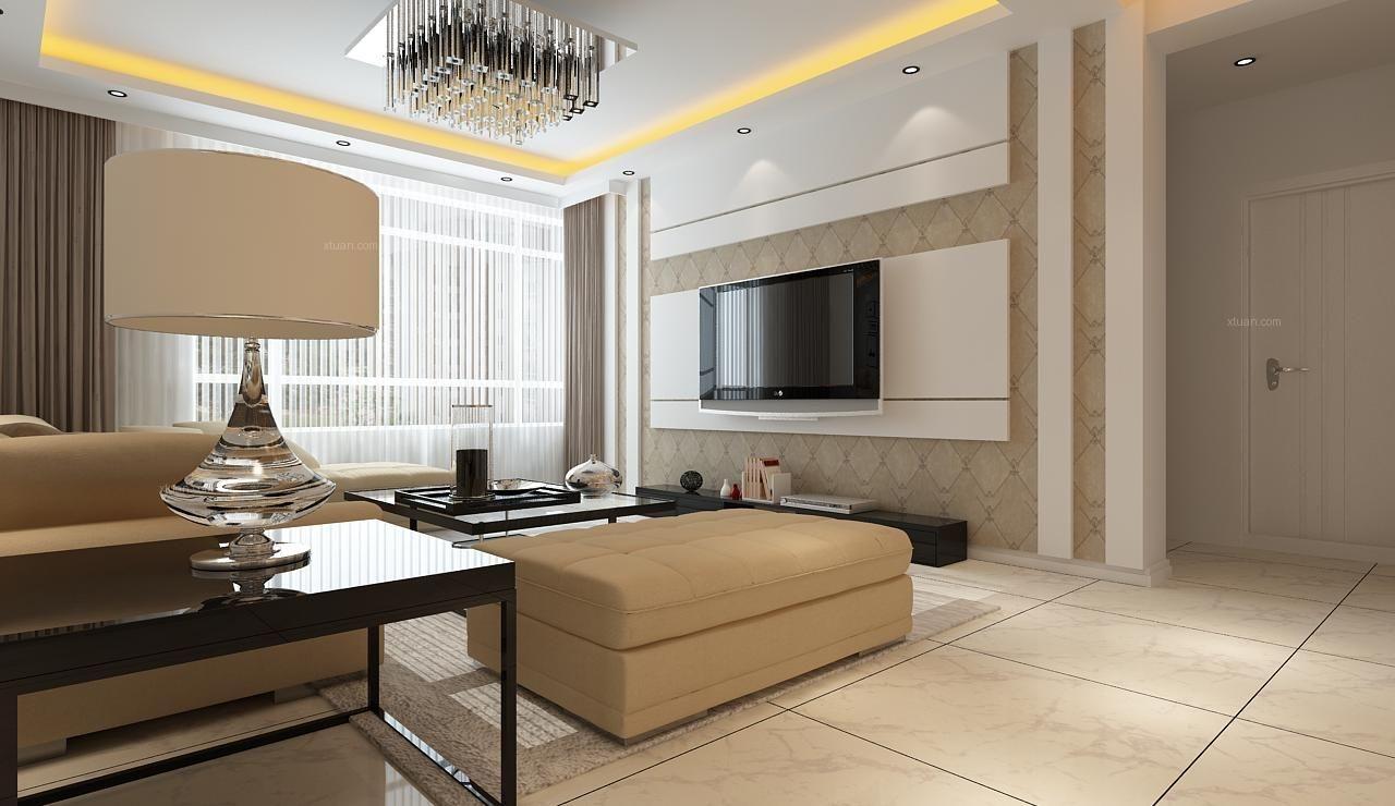 SR新城现代简约风格效果图 130平三居室简约设计