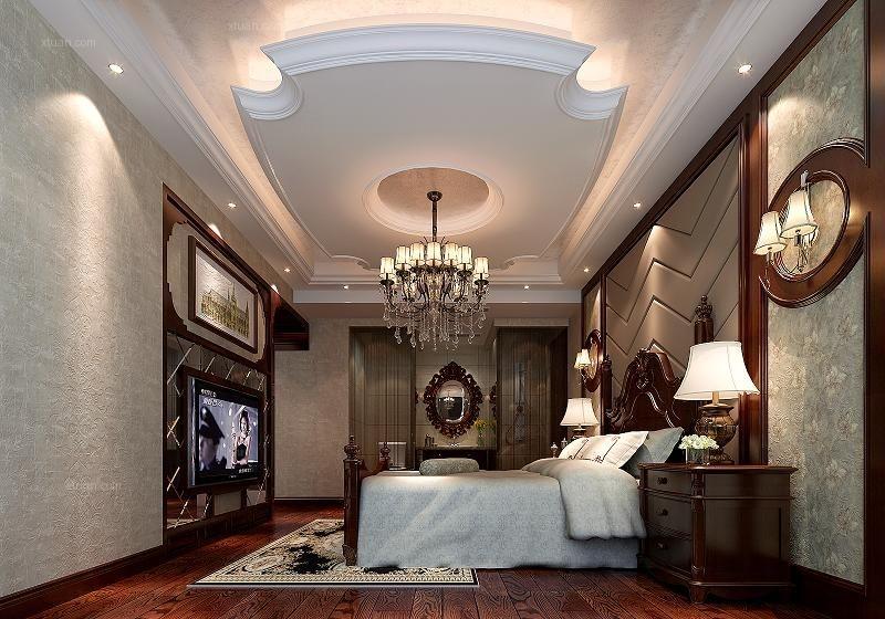 世茂天城-现代美式-四居室