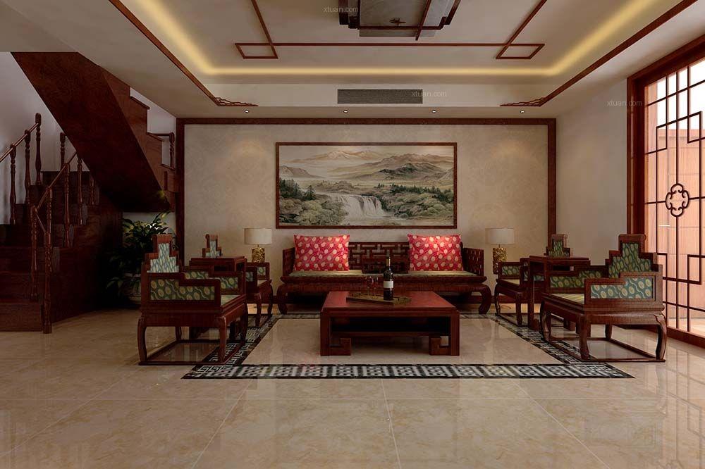 泰安容郡国际户型图,三居室新中式设计风格