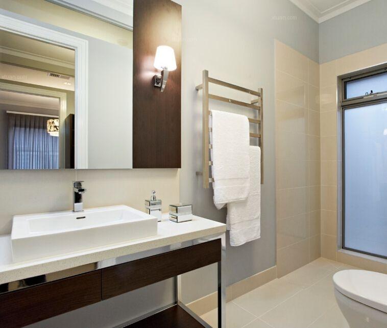 卫生间毛巾搭配图片