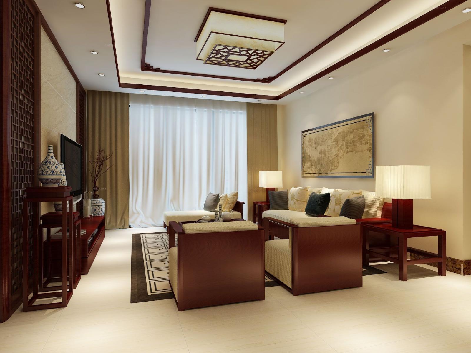 水悦龙湾-132平米-中式风格-11万