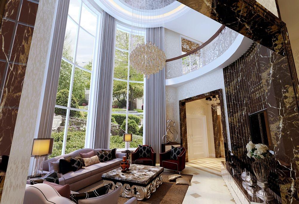 万城华府-580平别墅-后奢华简欧风格装修设计案例