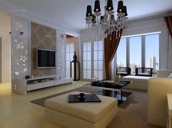 中海国际社区135平米-现代简约三居装修设计图
