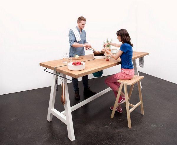 多功能创意烹饪桌,做饭用餐都在一张桌上!